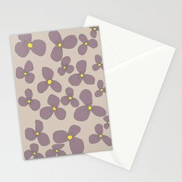 Three-leaf flower-power lilo Stationery Cards