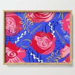 Marsala #illustration #pattern Serving Tray