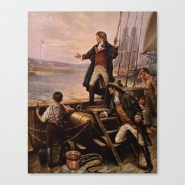 Francis Scott Key - Star Spangled Banner Painting Canvas Print
