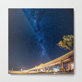 Milky Way Bridge Metal Print