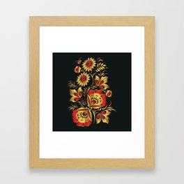 Golden russian folk Framed Art Print