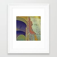 concrete Framed Art Prints featuring Concrete by RDKL, Inc.