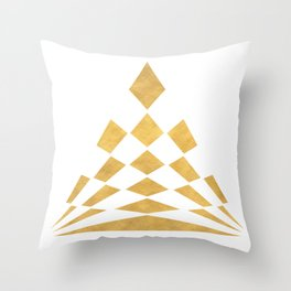 CHECKERBOARD ABSTRACT PYRAMID sacred geometry Throw Pillow