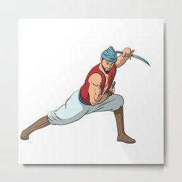 Martial arts fantasy fighter sailor saber Metal Print