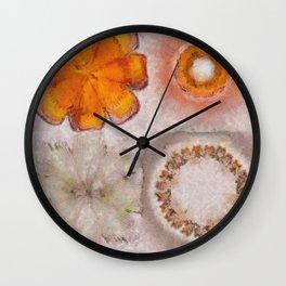 Hemiglobin Weave Flowers  ID:16165-071146-77360 Wall Clock