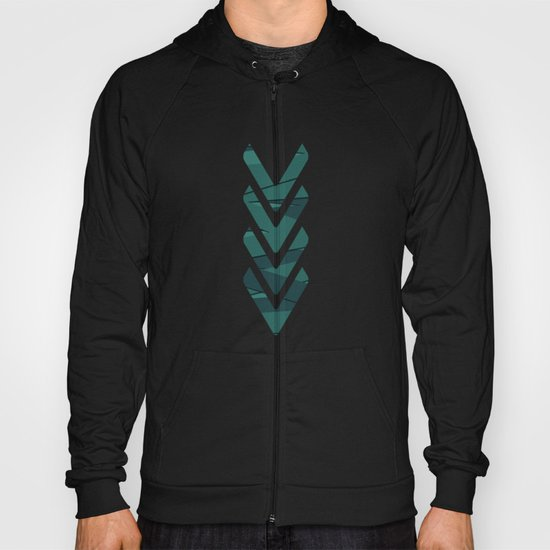 Teal in Love Hoody