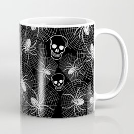 Spiders and Skulls Inverted Coffee Mug