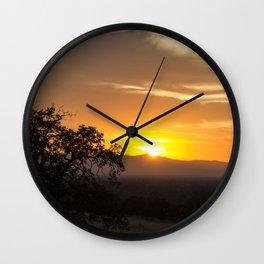 Sunset on the Horizon Wall Clock