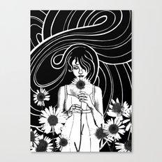 Daisy Girl Canvas Print