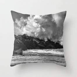 Donostia storm. Throw Pillow
