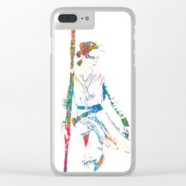 Rey - The Force Awakens - Pop Art Clear iPhone Case