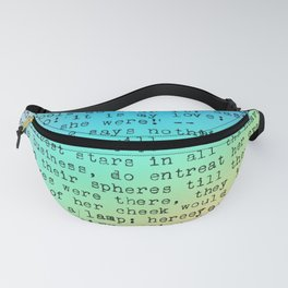 Pastel Rainbow Shakespeare! Fanny Pack