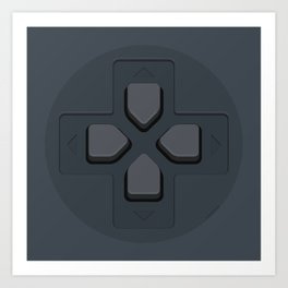 PlayStation - D-Pad Art Print
