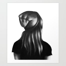 The Beanie Girl Art Print