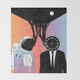A Portrait of Space and Time ( A Study of Existence) Throw Blanket