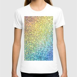 Turquoise Ombre Glitter T-shirt