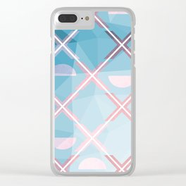 Abstract Triangulated XOX Design Clear iPhone Case