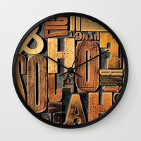 letters Wall Clocks featuring Letters by Bekare Creative