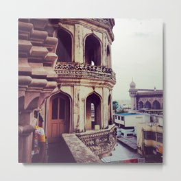 Vintage asian architecture - Streets of India Metal Print