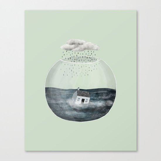 Glass Bowl House Canvas Print