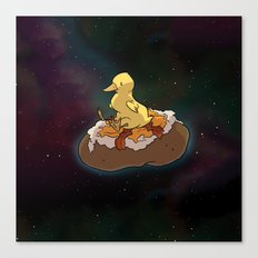 Space Duck Canvas Print