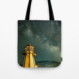 Mountain Light House Tote Bag