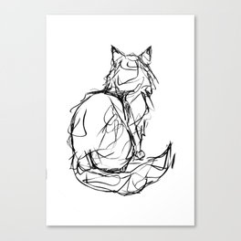 Kitty Gesture Canvas Print