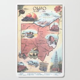 Vintage Map of Ohio (1921) Cutting Board