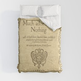 Shakespeare. Much adoe about nothing, 1600 Comforters