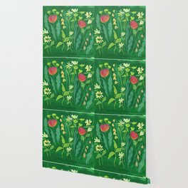 Sweet Flowers and Stems Wallpaper