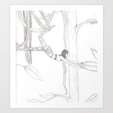Vine-Swinging Art Print