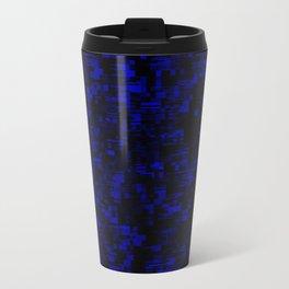 coming together darkly. blue Travel Mug