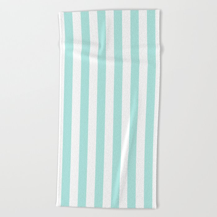 Aqua Stripes vertical- Beautiful maritime pattern Beach Towel