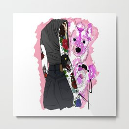Colorfully outlines Metal Print
