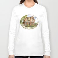 victorian Long Sleeve T-shirts featuring Victorian Beauty by Shelley Ylst Art