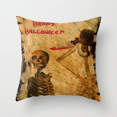 Halloween for Monsieur Bone Throw Pillow