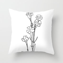 Minimalistic Flowers Throw Pillow