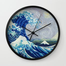 The Starry Night Wave Wall Clock