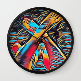 3766s-BH Abstract Leg Arch Vulva Art Feet Up Rendered Abstract by Chris Maher Wall Clock