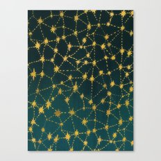 Stars Map Canvas Print
