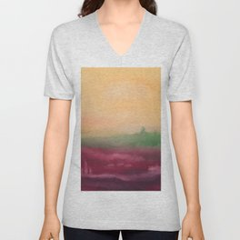 Fields of purple - Abstract Nature / Landscape Unisex V-Neck