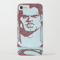 man of steel iPhone & iPod Cases featuring THE MAN OF STEEL by nachodraws