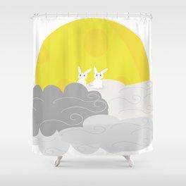 moon rabbit Shower Curtain