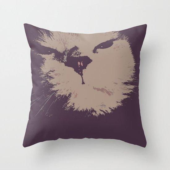 Renegade Cat Throw Pillow