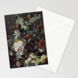 Jan van Huysum Still Life with Flowers and Fruit Stationery Cards