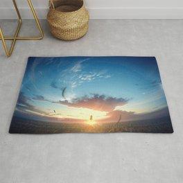 Sky Sunrise Original ArtWork Rug