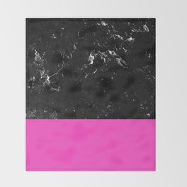 Pink Meets Black Marble #1 #decor #art #society6 Throw Blanket