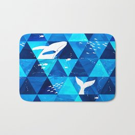 Blue Whale Jumping Bath Mat