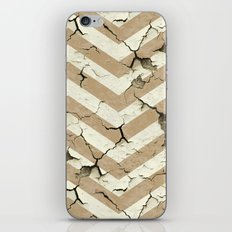 Peeling Chevrons Taupe iPhone & iPod Skin