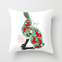 The Hare Throw Pillow